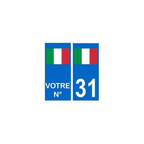 Italie numéro choix autocollant plaque