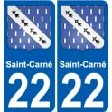 22 Léry blason autocollant plaque stickers ville
