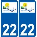 22 Tréveneuc logo autocollant plaque stickers ville