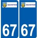 67 Dachstein logo autocollant plaque stickers ville