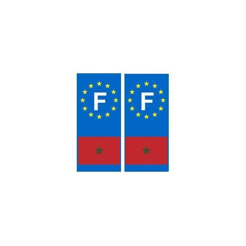 maroc F europe autocollant plaque