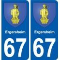 67 Ergersheim coat of arms sticker plate stickers city