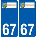 67 Ergersheim coat of arms sticker plate stickers city