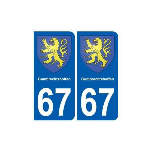 67 Gumbrechtshoffen blason autocollant plaque stickers ville