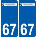 67 Krautergersheim escudo de armas de la etiqueta engomada de la placa de pegatinas de la ciudad