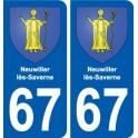 67 Neuwiller-lès-Saverne wappen aufkleber typenschild aufkleber stadt