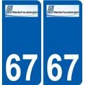 67 Niederhausbergen coat of arms sticker plate stickers city