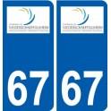 67 Niederschaeffolsheim coat of arms sticker plate stickers city