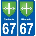 67 Riedseltz coat of arms sticker plate stickers city