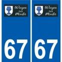 67 Wingen-sur-Moder logo autocollant plaque stickers ville