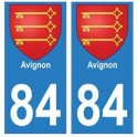 84 Avignon blason ville autocollant plaque