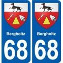 68 Bergholtz stemma adesivo piastra adesivi città