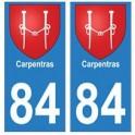 84 Carpentras blason ville autocollant plaque