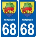 68 Hirtzbach wappen aufkleber typenschild aufkleber stadt