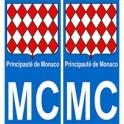 Monaco MC principality sticker plate