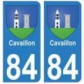 84 Cavaillon blason ville autocollant plaque