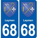 68 Leymen coat of arms sticker plate stickers city