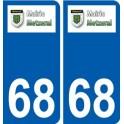 68 Metzeral logo autocollant plaque stickers ville