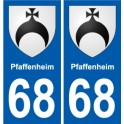 68 Pfaffenheim blason autocollant plaque stickers ville