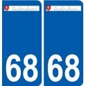 68 Raedersheim logo autocollant plaque stickers ville