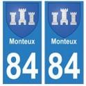 84 Monteux blason ville autocollant plaque