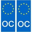 Oc occitan europe autocollant plaque