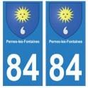 84 Pernes-les-Fontaines blason ville autocollant plaque