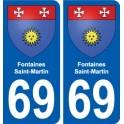 69 Fontaines-Saint-Martin blason autocollant plaque stickers ville