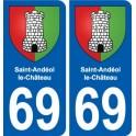 69 Saint-Andéol-le-Château blason autocollant plaque stickers ville