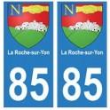 85 La Roche-sur-Yon ville autocollant plaque blason