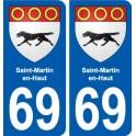69 Saint-Martin-en-Haut coat of arms sticker plate stickers city