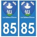 85 Les Sables d'Olonne ville autocollant plaque blason