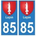 85 Luçon ville autocollant plaque blason