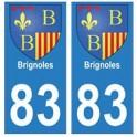 83 Brignoles autocollant plaque