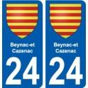 27 de Léry escudo de armas de la etiqueta engomada de la placa de pegatinas de la ciudad