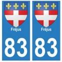 83 Fréjus autocollant plaque immatriculation ville