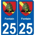 25 Fontain coat of arms sticker plate stickers city
