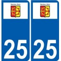 27 Léry logo sticker plate stickers city