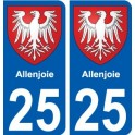 25 Allenjoie coat of arms sticker plate stickers city