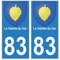 83 La Valette-du-Var autocollant plaque immatriculation ville