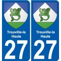 27 Trouville-la-Haule coat of arms sticker plate stickers city