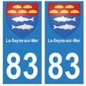83 La-Seyne-sur-Mer autocollant plaque immatriculation ville