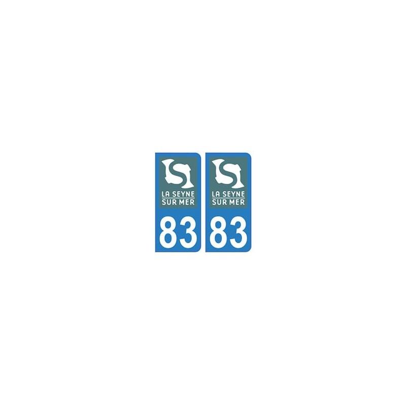 autocollant 83 plaque immatriculation blason d partement 83 ville logo la seyne sur mer. Black Bedroom Furniture Sets. Home Design Ideas