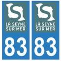 83 La-Seyne-sur-Mer logo autocollant plaque immatriculation ville