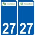 27 Beaumesnil logo autocollant plaque stickers ville