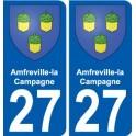 27 Amfreville-la-Campagne blason autocollant plaque stickers ville