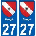 27 Caugé coat of arms sticker plate stickers city