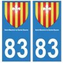 83 Saint-Maximin-la-Sainte-Baume autocollant plaque immatriculation ville