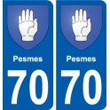 70 Pesmes coat of arms sticker plate stickers city