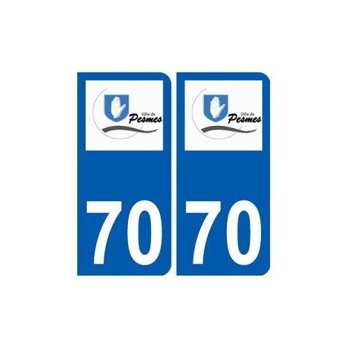 70 Pesmes logo autocollant plaque stickers ville